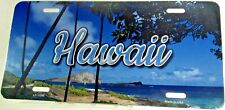 Novelty license plate HAWAII Palm Trees Aluminum auto tag Made in U.S.A.LP-11595