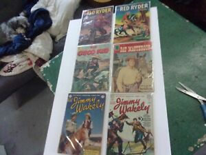 Lot Golden Era Dell/DC Jimmy Wakely #7/9 Cisco, Red Ryder x2  Masterson