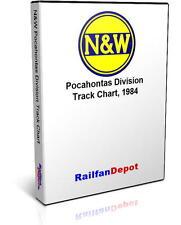 Norfolk & Western Pocahontas Division Track Chart - PDF on CD - RailfanDepot