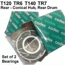 Triumph T120 TR6 T140 TR7 Rear Wheel Bearings, Conical, Drum, 37-0653 [E04]