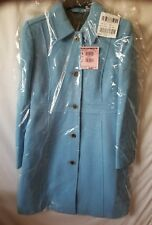 NWT J.Crew Double Cloth Wool Lady Day Coat With Thinsulate  Cornflower Blue 10