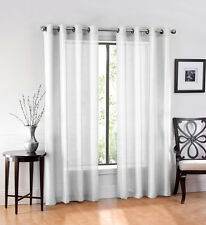 Ultra Luxurious Elegant Sheer Grommet Curtain Panels - Assorted Colors