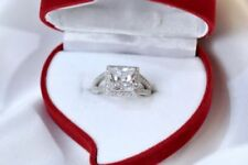 Solitaire with Accents Not Enhanced Sterling Silver Fine Rings
