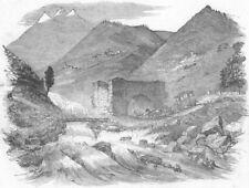 SWITZERLAND. Destruction of Great Road over Simplon, antique print, 1849