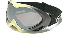 New Snowmobile Ski Virage 100% UV400 Goggles Yellow & Black Frame and Smoke Lens