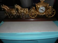 United Horse Carriage Clock Tested Vintage Free Shipping!!!