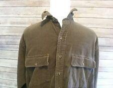 POLO Ralph Lauren men shirt CORDUROY buttondown medium longsleeve brown