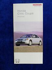 Honda Civic Coupe - Preisliste - Prospekt Brochure 01.2003