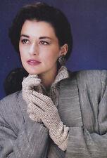Crochet Pattern ~ Ladies Beautiful Cotton Gloves ~ Instructions