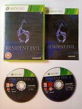 Resident Evil 6 XBOX 360 GAME PAL avec manuel