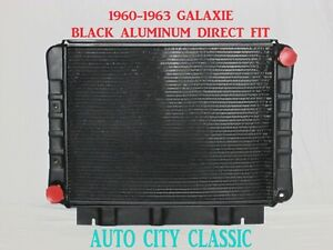 1960-1963 Ford Galaxie Black Radiator Aluminum Big Block