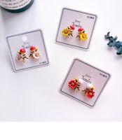 925 Silver Women Mushroom Earring Jewelry Statement Flower Eardrop Studs Cartoon