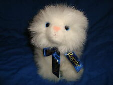 "White Persian Royale Tissue Cat Plush Gund 7"" Tall"