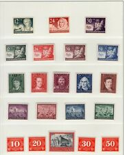 EUROPEAN COUNTRIES Mint Mostly 1940s WWII Stamp Set Collection CV€730+