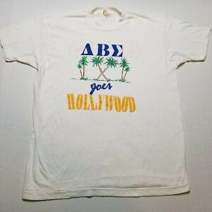 Vtg 1988 Alpha Beta Sigma Sorority Rush T-Shirt Womens XL Screen Stars 80s V90