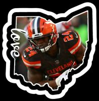 Nick Chubb Magnet Cleveland Browns Custom Vinyl  NFL Runningback RB Look