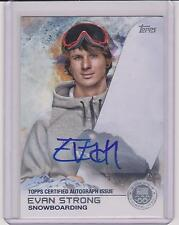 RARE 2014 TOPPS OLYMPIC EVAN STRONG SILVER AUTOGRAPH CARD ~ 22/30 ~ SNOWBOARDING