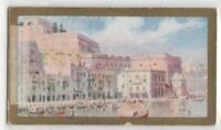 View Of Valetta Malta Mediterranean Island 90+ Y/O Ad Trade Card
