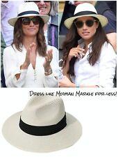 Panama Hat Women Wide Brim Straw Roll up Fedora Beach Sun Hat SALE