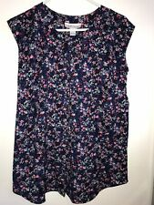 Motherhood Maternity Sleeveless Floral Button Down Top Size Small