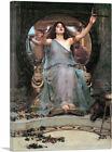Circe Offering Cup to Odysseus Ulysses Canvas Art Print John William Waterhouse