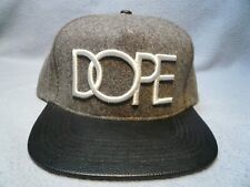 DOPE Wool Logo Snapback BRAND NEW hat cap gray and white