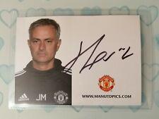 Jose Mourinho Manchester United (Man Utd) Signed Club Card