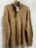 Tasso Elba Mens Turtleneck Sweater Camel Color Size 2XL Merino Wool