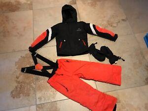 Bergson Supra-Tex Ski Anzug Set Gr 110 inkl. Ziener Ski Handschuhe