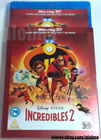 INCREDIBLES 2 w/ SLIPCOVER New 3D + 2D BLU-RAY Movie 2018 Disney Pixar Film Bao