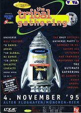 UNIVERSE TRIBAL GATHERING Rave Flyer Flyers A5 4/11/95 Munchen Airport Germany