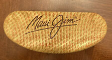 Maui Jim Hard Sunglasses Case Clam Shell Vault Large Storage Bamboo Tropical