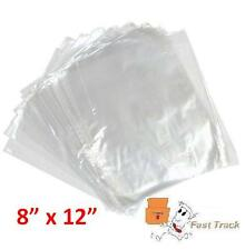 """10000 x CLEAR POLYTHENE PLASTIC FOOD APPROVED BAGS 8"""" x 12"""" - 100 GAUGE *FAST*"""