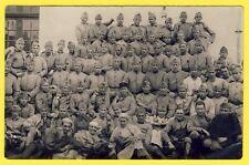 cpa CARTE PHOTO Soldats du 15e Régiment Caserne Service Militaires Uniformes