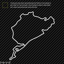 (2x) Nurburgring Sticker Die Cut Decal Self Adhesive Vinyl track