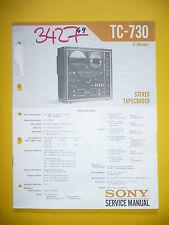 Service Manuel pour Sony TC-730 Bande Enregistreur, Original