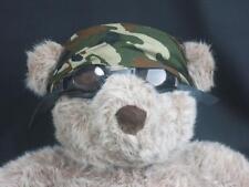 BIG BROWN TEDDY BEAR BIKE MOTORCYCLE GOGGLES CAMOUFLAGE DO RAG PLUSH STUFFED