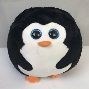 Ty Beanie Ballz Avalanche Penguin Plush Large  Black White