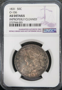 1831 50C Overton 106 Capped Bust Half Dollar NGC AU Cert# 2737944003 # 2055