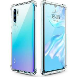 For Huawei P30 Lite Clear TPU Shockproof Transparent Tough Case Cover
