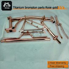 Ti Atom /Titanium Brompton frame set Rose Gold