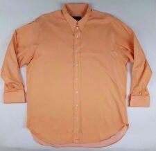 ROBERT Talbott BESPOKE Shirt ORANGE Mens FRENCH Cuffs USA Cotton SIZE Sz PEACH**