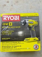 "RYOBI P237 ONE+ 18V 1/4"" 1/4-in 3-SPEED HEX IMPACT DRIVER - TOOL DRILL"