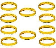 10x Orig. Livestrong Silikon Armband Krebshilfe Herren Damen Erwachsene 10 Stück