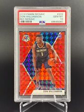 New Listing2019-20 Panini Mosaic Zion Williamson Red Mosaic #209 Psa 10 New Orleans 🔥