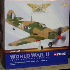 CORGI-Hawker Hurricane MKIIC-Ippodromo Ceylon Jan 1943, SECONDA GUERRA MONDIALE - 1:72 - LTD ED