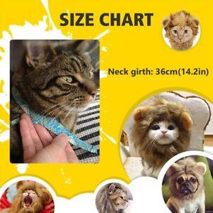 Pet Costume Lion Mane Fancy Wig for Dog/Cat Adjustable Washable Halloween Party