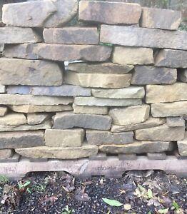Yorkstone drystone walling bulk bag includes delivery to kerbside garden walling