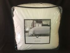 Hotel Collection Embroidered Frame King Comforter White Charcoal Stitching