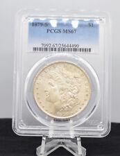 1879-S $1 Morgan Silver Dollar PCGS MS 67 Rare High Grade White Luster Pretty